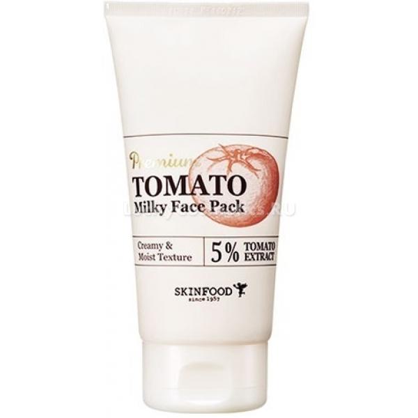 SkinFood Premium Tomato Milky Face PackМечтаете о настоящем преображении кожи? Тогда это средство специально для Вас! Молочная маска для лица с экстрактом томата поможет осветлить Вашу кожу, выровнять цвет лица, отбелить пигментные пятна. Основное предназначение этой маски – заставить Вашу кожу сиять! Видели фарфоровые личики кореянок, которые будто светятся изнутри? Хотите обладать таким же? Тогда наносите эту маску 2 раза в неделю на 5-10 минут, и результат не заставит себя ждать. Содержащийся в маске экстракт томата – отличный природный антиоксидант, который предупреждает преждевременное старение. Он же отвечает за отбеливание и нормализацию работы сальных желез. Экстракт лотоса оказывает целый комплекс положительных мер для уставшей и тусклой кожи: глубокое увлажнение, разглаживание мимических морщин, тонизирование, уменьшение пор. Витамины группы E, C и B работают над восстановлением гладкости кожи, ускоряют регенерацию, помогают избавиться от шелушения и сухости. Маска Premium Tomato Milky Face Pack от широко известного бренда SkinFood отлично подходит для всех типов кожи, но наибольший эффект от её применения будет виден на тусклой, проблемной и пигментированной коже.Объём: 150 гр.Способ применения:Нанести массажными движениями, смыть теплой водой через 5-10 минут.<br>