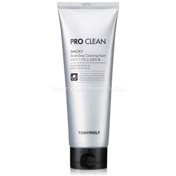 Купить Tony Moly Pro Clean Smoky Scrub Deep Cleansing Foam