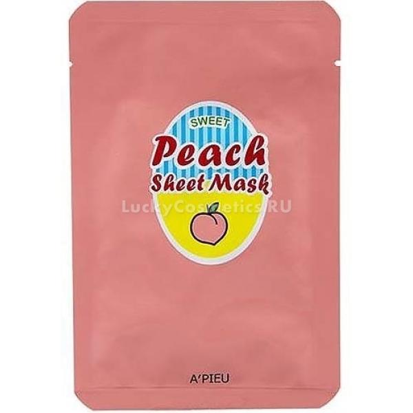 Apieu Peach And Yogurt Sheet MaskСвежий йогурт с кусочками персика очень полезен в качестве завтрака и &amp;hellip; тонизирующей маски для лица. Не пугайтесь, наносить на кожу содержимое холодильника вам не придется. Бренд A&amp;#39;pieu все продумал и выпустил в продажу тканевую маску Peach &amp;amp; Yogurt Sheet Mask, обогащенную полезными витаминами и микроэлементами.<br><br>Маска выполнена из мягчайшего хлопка и имеет правильное лекало, не спадающее с лица и не доставляющее дискомфорт. Благодаря грамотно подобранной формуле, продукт подойдет для любого типа кожи. В основе пропитки лежит питательный йогурт, который укрепляет кожный иммунитет, а также нормализует микрофлору, не позволяя размножаться бактериям, вызывающим воспаления.<br><br>Экстракт спелого персика отвечает за баланс увлажнения, укрепляет и разглаживает эпидермис, в результате чего лицо буквально светится изнутри. Антиоксиданты натурального происхождения не дают свободным радикалам нанести вред вашей красоте и сохраняют молодость, подтягивая овал лица.<br><br>Бережное отбеливание актуально для тех, кто страдает пигментацией или давно мечтает избавиться от застарелых следов постакне. Ну а глубокое питание, такое необходимое в холодное время года, поможет забыть о шелушениях, неприятном чувстве стянутости и тусклом цвете лица.<br><br>&amp;nbsp;<br><br>Объём: 23 гр.<br><br>&amp;nbsp;<br><br>Способ применения:<br><br>После демакияжа и умывания приложите лекало маски к лицу, разгладьте неровности и расслабьте мышцы. Через 15 минут удалите ткань и вмассируйте в кожу остатки эссенции.<br>