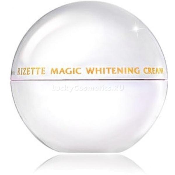 Lioele Rizette Magic Whitening CreamПоявление этого нового отбеливающего крема обрадует многих женщин, в особенности тех, кому пигментные пятна причиняют неудобства и заставляют переживать неприятные моменты. Он содержит необходимые компоненты, которые оказывают интенсивное воздействие на кожу и быстро справляются с возрастной пигментацией. Rizette Magic Whitening Cream эффективно справляется как с возрастными изменениями цвета кожи, так и с приобретенной пигментацией, возникшей в результате хирургических вмешательств, лазерных шлифовок кожи, глубоких пилингов и постакне.<br><br>Средство обогащено большим количеством природных активных веществ, которые:<br><br><br>Отбеливают пигментированные участки кожи;<br>Выравнивают общий тон кожи;<br>Препятствуют повторному возникновению пигментации, замедляя процесс выработки меланина;<br>Обладает мощным антиоксидантным эффектом, который способствует борьбе с преждевременным старением.<br><br><br>Крем подходит для использования не только при локальной пигментации, но и на обширных участках пигментированной кожи. Благодаря эффективному сочетанию отбеливающих компонентов, он активно борется с уже имеющимися пятнами, а также препятствует возникновению новых. Из-за своего обширного действия, крем подходит для любых пигментированных участках тела &amp;ndash; плечах, руках и зоне декольте.<br><br>В состав средства входят натуральные масла, вытяжки из лекарственных растений и минеральные компоненты, которые нежно воздействуют на кожу, смягчают и увлажняют ее.<br><br>Обратите внимание, крем содержит гиперактивные компоненты, поэтому применять его можно только раз в сутки, либо утром до нанесения основы под макияж, либо вечером, после полного цикла очищения кожи.<br><br>&amp;nbsp;<br><br>Объём: 50 мл<br><br>&amp;nbsp;<br><br>Способ применения:<br><br>Крем следует наносить на предварительно очищенную кожу лица или тела, Легкий массаж при процедуре только усилит эффективность крема. Превосходный результат проявит себя быстро, он будет за
