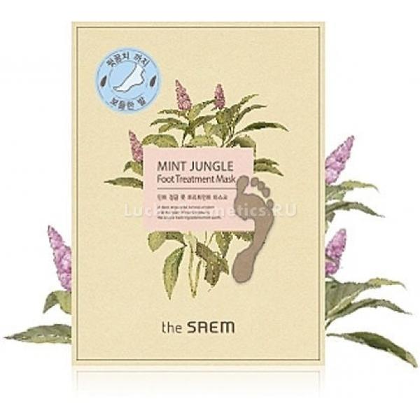 The Saem Mint Jungle Foot Treatment MaskМаска с приятным мятным ароматом от The Saem обладает освежающим эффектом, легко снимает усталость и напряжение. Идеально подойдет для вечернего использования, поскольку ноги в течение дня испытывают высокие нагрузки. Маска придает мягкость и нежность, питает и насыщает влагой кожу ног. В состав освежающей маски входят природные компоненты, которые ухаживают за вашими ногами, сохраняя красоту и здоровье. В их числе экстракты мяты, огурца, брокколи, яблока, эвкалипта, портулака, меда, а также масла ши и оливы. Экстракты, богатые полезными для кожи витаминами и микроэлементами, мягко дезодорируют и увлажняют. Масла придают вашим ногам бархатистость, легко снимают напряжение и усталость.Объём: 25 млСпособ применения:Ноги вымыть и вытереть насухо, сделать легкий массаж. Вынуть носочки из упаковки и надеть. Снять по истечении 20 минут, после чего дать оставшемуся на коже средству полностью впитаться.<br>