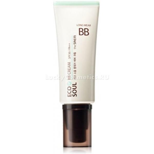 The Saem Eco Soul Long Wear BB CreamСтойкий ББ крем от компании The Saem обеспечит идеальное покрытие кожи на весь день. В линейке три великолепных оттенка &amp;ndash; розово-бежевый (01 Pink Beige), натуральный бежевый (02 Natural Beige) и бежевый (03 True Beige). Легкая текстура ББ крема позволяет ему ровным слоем ложиться на кожу, выравнивать тон и рельеф. Компоненты, содержащиеся в составе крема, способствуют нормальной работе сальных и потовых, и таким образом обеспечивают его стойкость:<br><br><br>Пчелиный воск &amp;ndash; устраняет повреждения и воспаления, препятствует потере живительной влаги.<br>Масло чайного дерева &amp;ndash; уничает бактерии и микробы, заживляет ранки, борется с воспалениями и раздражениями.<br>Масла эвкалипта и бергамота &amp;ndash; повышают эластичность тканей, делают кожу более мягкой и нежной.<br>Апельсиновая и лимонная цедра &amp;ndash; комплексно воздействует на кожу, защищает от повреждений, эффективно увлажняет.<br>Экстракты арники, тысячелистника, киви, полыни и ананаса &amp;ndash; отвечают за нормализацию обменных процессов, очищают, обладают противовоспалительным эффектом.<br>Витаминный комплекс (E, B2 и другие) &amp;ndash; замедляют старение, устраняют морщины, успокаивают и очищают кожу от воспалений, акне, токсинов, снимают раздражения, шелушения и зуд. Способствуют самоомоложению кожных тканей, разглаживают мимические и возрастные морщины, создают особый, защищающий кожу барьер. Витамины помогают маскировать пигментные пятна, которые при регулярном применении крема становятся все более незаметными.<br>Аденозин &amp;ndash; расширяет сосуды, регулирует микро- и макроциркуляцию, запускает процессы регенерации кожных клеток, позволяет снять покраснения.<br><br><br>&amp;nbsp;<br><br>Объём: 40гр<br><br>&amp;nbsp;<br><br>Способ применения:<br><br>Нанести ББ крем на поверхность кожи похлопывающими движениями и подождать, пока крем окончательно &amp;laquo;усядется&amp;raquo;. Спустя 5 минут продолжить нанесение макияжа.<br>