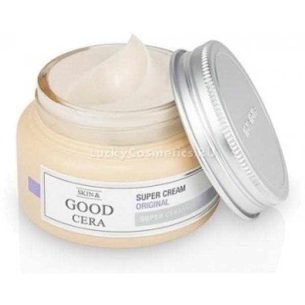 Питательный крем для лица Holika Holika Skin and Good Cera Super Cream OriginalКосметологами корейской компании Holika Holika создано увлажняющее средство длительного действия. Рекомендован питательный крем для обезвоженной, чувствительной кожи, склонной к аллергическим реакциям.<br><br>&amp;nbsp;<br><br>Объём: 60 мл<br><br>&amp;nbsp;<br><br>Способ применения:<br><br>Крем наносится на сухую, очищенную кожу лица и похлопывающими движениями распределяется по массажным линиям.<br>
