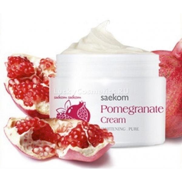 The Skin House Pomegranate CreamКрем, который содержит в себе экстракт граната, способствует обновлению эпидермиса и восстанавливает кожный покров. Средство увлажняет и тонизирует кожу, дарит ей  энергию, с помощью наличия в составе витаминов.<br>Тон лица становится ровнее, а морщинки исчезают.<br>В составе крема содержится ниацинамид, который отвечает за усиление выработки коллагена, который важен для сохранения кожи упругой и бархатистой. Также данный компонент разглаживает эпидермис, сужает поры, увлажняет кожный покров и делает тон кожи светлым и сияющим.<br>Масло ши выступает в качестве восстановителя структуры эпидермиса. А главный компонент – гранат, играет роль природного антиоксиданта, препятствует возрастным изменениям и создает защитный барьер от негативных воздействий извне.<br>Крем способен избавить кожный покров от пятен и неровности цвета, а также борется с угрями и прыщами на лице.Объём: 50 млСпособ применения:На предварительно очищенную кожу крем нужно нанести легкими массажными движениями, пока средство не впитается. Средство универсально для обладателей любого типа кожи.<br>