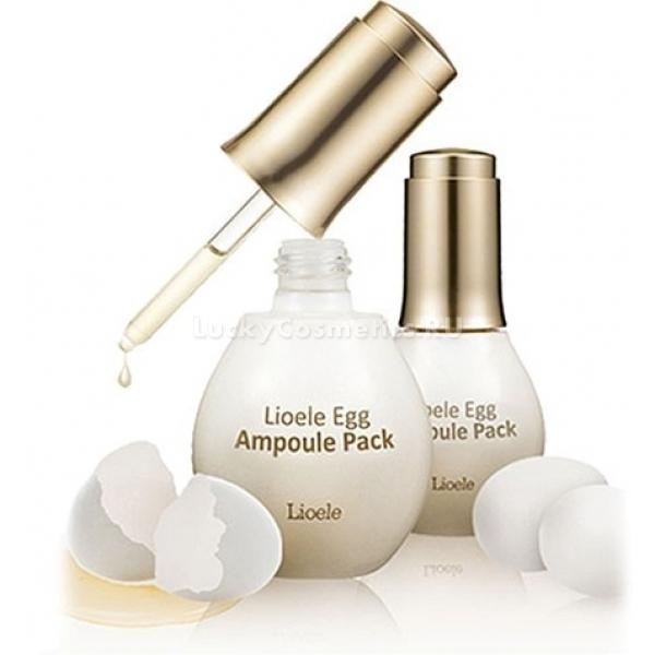 Lioele Ampoule Egg PackУдивительное средство от Lioele – симбиоз сыворотки и маски, слияние самых полезных свойств обоих видов уходовой косметики! Яичная ампула за несколько минут приводит в порядок уставшую кожу с расширенными порами и шелушащимися зонами.<br>Маска-сыворотка приготовлена на основе яичного белка, который богат аминокислотами, а также производит ярко выраженный эффект лифтинга. Он абсолютно естественно способен восстановить эпидермис не только большей части лица, но и на чувствительных участках, таких как кожа губ и вокруг глаз. Кроме того, стягивающий эффект яичного белка распространяется на поры, предотвращая возникновение акне и выравнивая поверхность кожи.<br>Пептидный комплекс в сочетании с коллагеном поддерживают эластичность и тонус эпидермального матрикса. Высыхая, маска отдает влагу коже и захватывает отмершие клетки с ее поверхности, которые после смывания удаляются, оставляя нежный и гладкий эпидермис.Объём: 60 гСпособ применения:Крышка с ампулой открывается поворотом против часовой стрелки, и с помощью встроенной пипетки наносится на сухую чистую кожу. Совершайте манипуляции аккуратно, чтобы не допустить разлива средства, так как оно имеет липкую и вязкую, но довольно жидкую консистенцию. После распределения по лицу и шее маска-сыворотка оставляется до полного высыхания, и только после этого смывается теплой водой. Использовать рекомендуется не чаще двух раз в неделю.<br>