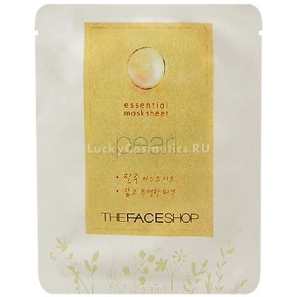 The Face ShopEssential Pearl Mask SheetТканевая жемчужная маска от The Face Shop предназначена для грамотного ухода за уставшей кожей лица. Средство превосходно увлажняет, питает кожу, разглаживает мимические морщинки и избавляет от пигментации. После использования продукта вы позабудете о сухости и шелушениях кожного покрова.<br><br>Маска имеет форму овальной салфетки. Ткань пропитана суперэффективной эссенцией с жемчужным порошком. Этот активный компонент широко используется в косметологии для решения эстетических проблем. Он способствует восстановлению клеток, устраняет тусклость и подтягивает овал лица. Также природный ингредиент улучшает клеточный обмен.<br><br>Концентрированная эссенция обогащена экстрактами шелковицы, грейпфруга, фасоли, листьев щавеля, гиалуроновой кислотой, бетаином, вытяжками морских водорослей, коры азиатской березы.<br><br>Антивозрастной и обновляющий уход в домашних условиях является альтернативой новомодным процедурам в салонах красоты. Особую эффективность маска покажет на уставшей коже, имеющей признаки старения.Объём: 22 млСпособ применения:Использовать маску-салфетку непосредственно после очищения кожи лица. Оставить действовать на 30 минут. Аккуратно удалить ткань, остатки жемчужного средства оставить до полного впитывания.<br>
