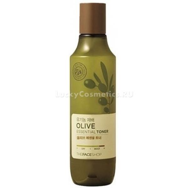 The Face Shop Olive Essential Moisture TonerЭкстраувлажняющий тоник от корейского производителя косметики The Face Shop создан для ухода за тусклой, уставшей от стрессов, обезвоженной кожей. Это экспресс-средство чудесным образом преображает кожу, насыщает ее минералами и витаминами, возвращает красоту и здоровье.<br><br>В составе продукта содержатся такие ценные компоненты, как гиалуроновая кислота, пантенол и оливковое масло. Эти ингредиенты оказывают противовоспалительное действие, а также играют важную роль в увлажнении и питании клеток. Оливковое масло, богатое витамином &amp;laquo;красоты и молодости&amp;raquo;, отлично успокаивает дерму и защищает ее от внешних факторов. Оно препятствует обезвоживанию и преждевременному увяданию кожи, продлевает молодость и смягчает ее.<br><br>Тоник могут использовать люди, обладающие гиперчувствительной кожей. Он не вызывает раздражений, поскольку не содержит вредных для организма человека добавок. Средство помещено в стильную темно-зеленую бутылочку, декорированную веточками оливкового дерева. Плотно закручивающаяся крышечка позволяет избежать растекания тоника. Удобный дозатор дает возможность выдавить необходимое количество продукта.<br><br>&amp;nbsp;<br><br>Объём: 150 мл<br><br>&amp;nbsp;<br><br>Способ применения:<br><br>Тонер наносится на очищенное лицо.<br>