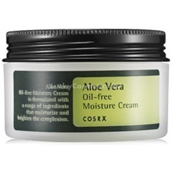 CosRX Aloe Vera Oilfree Moisture CreamАлоэ вера ? растение, издавна почитаемое за свои уникальные лекарственные свойства, эффективные и для оздоровления кожи. Его листья богаты комплексом из 20 аминокислот, витаминов (E, C, A и группы B), минералов (медь, цинк, калий, селен, хром и другие) и биостимуляторов.<br>В составе крема Aloe Vera Oil-free Moisture Cream гидролат листьев барбадосского алоэ многократно усилен добавлением порошка из сока растения. Вещества прекрасно увлажняют и регенерирует кожу, поддерживают ее упругость и помогают противостоять первым признакам старения. Противовоспалительные свойства алоэ успокаивают и очищают лицо от покраснений, гнойных образований, помогают восстановить после незначительных термических повреждений (солнечных ожогов, обветривания и т.п.).<br>Концентрированный состав активных компонентов алоэ дополнен аргинином, аллантоином, гиалуроновой кислотой и пантенолом. Они стимулируют обновление тканей, увлажняют, стимулируют синтез эластина, подтягивают контуры кожи, улучшают микроциркуляцию и укрепляют местный иммунитет.<br>Гелевая текстура крема освежает и охлаждает разгоряченную кожу. Для усиления этого эффекта рекомендуется хранить его в холодильнике.Объём: 100 млСпособ применения:Наносить на очищенную кожу лица и тела.<br>