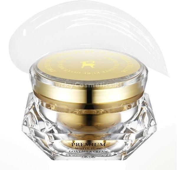 RiRe Premium White Pure Goat Milk CreamСбалансированное сочетание натуральных компонентов и концентратов в креме премиум класса Premium Milk Cream бренда RiRe поможет не только уменьшить выраженность возрастных изменений, но и осветлит кожу. Легкая увлажняющая текстура подходит для любого типа кожи.<br>В составе White Pure Goat содержится 47% козьего молока, известного своим омолаживающим эффектом. Оно устраняет воспаления и разглаживает даже глубокие морщины, стимулирует процесс роста новых клеток, восстанавливая рельеф кожи. Козье молоко прекрасно осветляет кожу, увлажняет и питает ее.<br>Масло сафлоры богатое витамином Е, защищает кожу от негативного влияния свободных радикалов и солнечного излучения, придает коже сияние.<br>Керамиды, экстракт женьшеня и орхидеи замедляют процесс старения кожи, активизируя выработку коллагена и эластина. Их комплексное использование подтягивает кожу, моделируя овал лица.<br>Экстракт меда питает и увлажняет нежную кожу, усиливает ее регенерацию, оздоравливает и помогает справиться с шелушением и воспалением кожных покровов, обладает мягким эффектом пилинга, деликатно осветляет кожу.<br>Экстракт редиса, тыквы и рисовых отрубей отбеливают, смягчают, нормализует водно-липидный баланс, благодаря чему кожа выглядит бархатистой и матовой, защищают от активных солнечных лучей и обезвоживания.Объём: 50 мл.Способ применения:Наносите крем легкими массажными движениями на сухую очищенную кожу утром и вечером.<br>