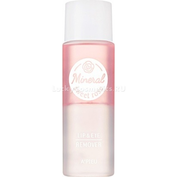 Жидкость для демакияжа с глаз и губ APieu Lip And Eye Wash Remover Sweet Rose