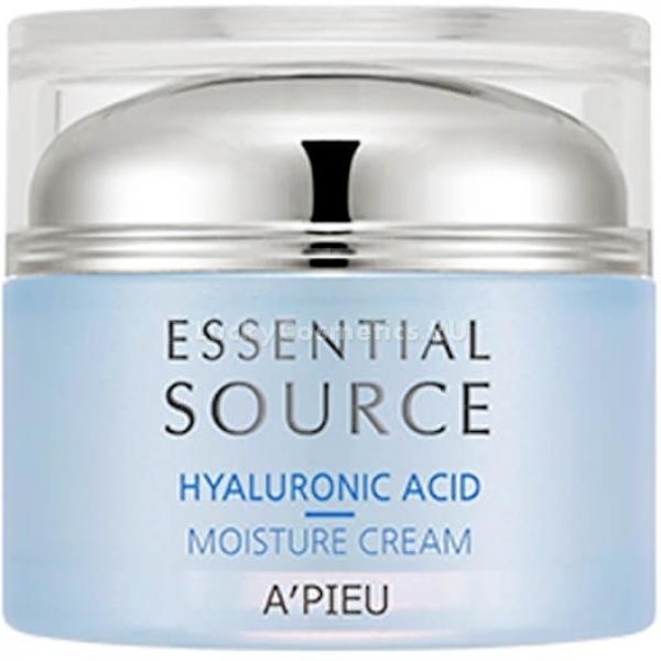 APieu Essential Source Hyaluronic Acid Moisture CreamВернуть коже свежий и сияющий вид поможет крем Essential Source Hyaluronic Acid Moisture Cream от корейского бренда APieu. Великолепные ухаживающие свойства крема помогают максимально восстановить и увлажнить клетки.<br>Легкая полупрозрачная гелевая текстура средства равномерно ложится на кожу и мгновенно увлажняет ее. Предотвращает появление сухости и шелушений. Не оставляет на поверхности кожи липкой и жирной пленки. Подготавливает кожу к нанесению последующих уходовых средств, способствуя их лучшему впитыванию в дерму.<br>Экстракт баобаба в составе продукта укрепляет стенки сосудов, устраняет пигментацию и следы акне. Способствует улучшению обмена веществ, ускоряет микроциркуляцию крови в капиллярах.<br>Гиалуроновая кислота улучшает процессы регенерации кожи, способствует глубокому питанию и увлажнению клеток, нормализует гидролипидный баланс. Устраняет мелкие мимические морщинки, способствует заживлению дермы.<br>Минеральная вода насыщает клетки активным кислородом, улучшает цвет лица, устраняет следы усталости кожи, великолепно тонизирует и освежает.Объём: 50 мл.Способ применения:На предварительно очищенную и тонизированную кожу лица нанесите необходимое количество крема и дайте впитаться.<br>