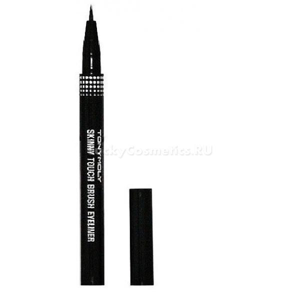 Tony Moly Skinny Touch Brush eyeliner  blackУстойчивая подводка для глаз Skinny Touch BRUSH EYELINER 01 BLACK предназначена для создания выразительного, четкого макияжа, который поможет Вам создать нужный образ и привлечь еще больше восторженных взглядов. Подводка выполнена в виде маркера с тончайшей кисточкой, благодаря которой средство легко и равномерно ложится на кожу, и оставляет тонкую черту насыщенного черного цвета.<br><br>Подводка-маркер для глаз от Tony Moly:<br><br><br>легко наносится<br>моментально высыхает<br>не растекается<br>не скатывается<br>не осыпается<br>обладает высокими влагостойкими качествами<br>держится в течении всего дня.<br><br><br>Смывается подводка обычным средством для снятия макияжа.<br><br>Skinny Touch BRUSH EYELINER 01 BLACK содержит натуральные ингредиенты, которые бережно воздействуют на тонкую кожу век, оказывают антисептическое и антибактериальное воздействие, не вызывают аллергии.<br><br>Входящие в состав природные компоненты гарантируют высокое качество продукции и защиту Вашей кожи каждый день. Жидкая подводка не только украшает Ваши глаза, но и защищает кожу век от пересушивания, питая ее натуральными компонентами. Все компоненты средства обладают смягчающими и антибактериальными свойствами.<br><br>&amp;nbsp;<br><br>Объём: 1 гр.<br><br>Способ применения:<br><br>Аккуратно нанесите средство на глаза, максимально близко к линии роста ресниц.<br>