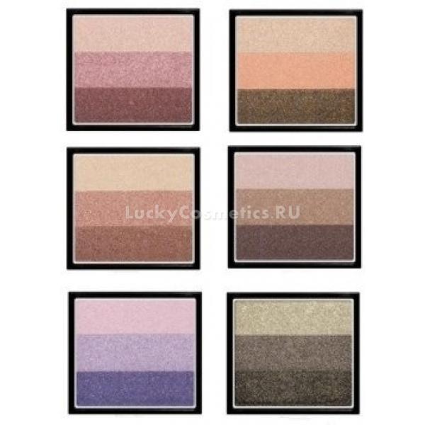 Трехцветные тени для век Missha The Style Silky Triple Perfection ShadowДанные потрясающие тени для век помогут создать каждой эффектный и роскошный макияж, который непременно выделит вас из толпы! Палитра включает в себя 3 сочетающихся между собой цвета, с помощью которых можно создать как сложный образ, так и повседневный мономакияж. Тени обладают шелковистой текстурой, что позволяет их нанести даже с помощью пальца, исключая использование спонжиков и кисточек. Мелкий помол, насыщенные пигменты и включение в формулу продукта светоотражающих частиц позволяют получить насыщенный оттенок с одного касания и исключают осыпание теней. Продукт обладает удивительной стойкостью, что помогает сохранить макияж ярким и насыщенным на протяжении всего дня, несмотря на выделение кожного себума, а также дождь и снег. Средство содержит в своем составе ухаживающие компоненты, среди которых имеются аргановое масло, коллаген и вытяжки различных цветов. Аргановое масло изумительно питает кожу век, а также защищает ее от отрицательного влияния окружающих условий. Коллаген прекрасно разглаживает кожу и делает ее шелковистой. Цветочные экстракты насыщают кожу различными полезными витаминами и элементами. Тени прекрасно наносятся, а также изумительно поддаются растушевке, что позволяет создать необходимый и аккуратный макияж в течение нескольких минут. Каждая из палитр теней этой линии позволит каждой представительнице женского пола выбрать те оттенки, которые подойдут именно ей, а также создать как ежедневный, так и вечерний макияж. Создайте свой уникальный и неповторимый образ и придайте взгляду необычайную выразительность, воспользовавшись тенями The Style Silky Triple Perfection Shadow от корейского производителя Missha!<br><br>&amp;nbsp;<br><br>Объём: 2 гр.<br><br>&amp;nbsp;<br><br>Способ применения:<br><br>Продукт следует наносить на кожу век с помощью пальца, спонжа либо кисти. Средство подходит для создания сложного макияжа, при использовании 3 оттенков, либо моно-макияжа, применя