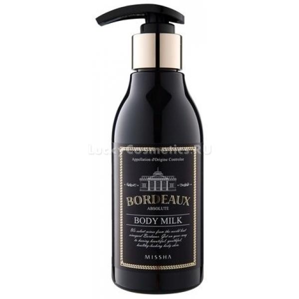 Missha Bordeaux Absolute Body MilkЭто молочко &amp;ndash; незаменимый продукт для тех, кто любит использовать легкие текстуры по уходу за кожей тела. Оно обладает тающей, невесомой консистенцией, которая в считанные секунды распределяется и впитывается в кожу не оставляя никаких некомфортных ощущений. Роскошный состав, в который входит максимальное количество природных ингредиентов, делает это средство настоящим эликсиром красоты и молодости. Это становится возможным из-за наличия в составе следующих высокоэффективных компонентов: Экстракт красного вина &amp;ndash; эффективное средство по борьбе со всеми признаками кожи, обладает выраженным восстанавливающим и тонизирующим действием. Миндальное масло интенсивно питает кожу, делая ее бархатистой, нежной и сияющей. Масло виноградной косточки имеет высокие антиоксидантные свойства, что позволяет оказывать стимулирующее действие на клетки кожи и эффективно бороться со всеми отрицательными факторами окружающей среды. Результатом регулярного применения этого лосьона станет ухоженная кожа, которая словно излучает, молодость, здоровье и красоту!<br><br>&amp;nbsp;<br><br>Объём: 200 мл<br><br>&amp;nbsp;<br><br>Способ применения:<br><br>Средство необходимо распределять по чистой коже тела нежными массажными движениями.<br>