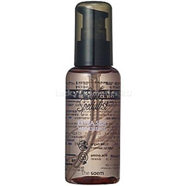 The Saem Style Specialist Extra Silk Hair EssenceШелковая эссенция экстра-класса The Saem Style Specialist Extra Silk Hair Essence в себе содержит множество питательных аминокислот. Всего их насчитывается около восемнадцати, среди них главными являются витамин Е и экстракт шиповника. Благодаря всем веществам, имеющимся в эссенции, после ее использования пряди волос становятся более увлажненными, упругими и насыщенными питательными веществами.<br><br>Благодаря постоянному использованию данного средства можно эффективно сохранить здоровье своих волос, придать им нужный объем, избегая утяжеления. Данная эссенция является также отличной защитой для каждого волоса. Она нежно и бережно обволакивает их, надежно защищая от вредоносных факторов. Например, препятствует проникновению в структуру волоса ультрафиолетовых лучей, горячего воздуха или агрессивных средств укладки.<br><br>&amp;nbsp;<br><br>Объём: 80 мл<br><br>&amp;nbsp;<br><br>Способ применения:<br><br>Эссенцию необходимо нанести на влажные волосы, слегка подсушенные полотенцем. Также ее можно применять на сухие волосы, используя средство по всей длине локонов.<br>