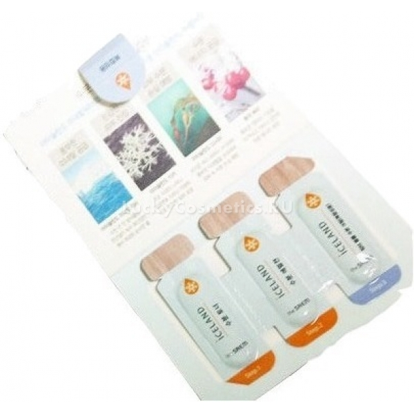 Набор средств по уходу за жирной кожей (пробник) The Saem Iceland Hydrating (Sample) Toner/Emulsion/Cream (For Oily Skin)