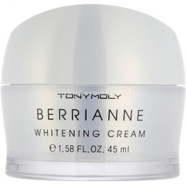 Tony Moly Berrianne Whitening CreamКосметика с экстрактом клюквы от корейской компании Tony Moly обеспечивает коже бережный уход, а потому подходит и для самой нежной и поистине чувствительной кожи. И если при этом возникли проблемы с пигментацией на лице, лучше всего использовать для их решения Berrianne Whitening Cream, мягкое осветляющее средство.<br><br>Его активные ингредиенты помогают справляться с пигментацией, уменьшая ее интенсивность и обеспечивая профилактику новых образований. Кроме того, они активно увлажняют кожу, насыщают ее полезными микро- и макро-соединениями, тем самым обеспечивая нежный ровный тон вашей коже.<br><br>В составе крема - экстракт клюквы и ниацинамид. Именно благодаря последнему возникает эффект отбеливания. Кроме того, он быстро восстанавливает утерянную эластичность кожи и делает ее более подтянутой, молодой и светящейся как будто изнутри.<br><br>Экстракт клюквы берет на себя восстанавливающее, антиоксидантное и оздоравливающее свойства. Именно он становится донором витаминов и иных полезных, незаменимых веществ для вашей кожи.<br><br>Кроме того, средство содержит термальную воду, а это - потрясающий увлажняющий эликсир.<br><br>&amp;nbsp;<br><br>Объём: 45 мл<br><br>&amp;nbsp;<br><br>Способ применения:<br><br>Нанесите осветляющий крем на кожу, вмассируйте его пальцами.<br>