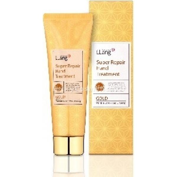 Крем для рук с восстановительным эффектом Lang Super Repair с экстрактом золота