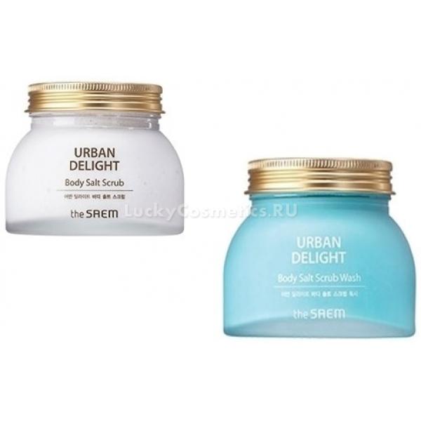 The Saem Urban Delight Body Salt Scrub WashСкраб эффективно и мягко отшелушивает с поверхности тела омертвевшие клетки, Body Salt Wash не провоцирует раздражения, активизирует выработку коллагена, защищает кожу от окисления, поддерживает баланс минералов в эпидермисе, увлажняет. Данный эффект средство имеет благодаря входящим в его состав растительным экстрактам, антиоксидантам, минеральной воде и морской соли. Urban Delight Scrub также способен осветлить пигментацию, выравнивая тон кожи.<br><br>В морской соли, содержащейся в скрабе, находятся лечебные минералы, питающие кожу и насыщающие ее ценными веществами.<br><br>&amp;nbsp;<br><br>Объём: 280 гр.<br><br>&amp;nbsp;<br><br>Способ применения:<br><br>Растереть скраб по влажной коже, после чего смыть<br>