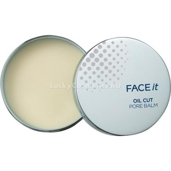Затирка-бальзам для пор The Face Shop Oil Cut Pore BalmТакая проблема, как жирная, блестящая кожа, портит настроение каждый день, а расширенные поры отбивают желание лишний раз взглянуть в зеркало. Выход есть! Чудодейственная затирка-бальзам Oil Cut Pore Balm от The Face Shop позволит навсегда забыть эти недостатки.<br>Равномерное распределение содержимого контейнера поможет качественно замаскировать расширенные поры, а также надежно уберет морщинки и шелушение, делая при этом кожу намного мягче и шелковистей на ощупь.<br>Благодаря специально подобранным компонентам бальзам контролирует появление жирного блеска на коже и моментально убирает его. Главная особенность средства в том, что оно не вызывает раздражений и воспалений, а бережный уход предотвращает появление высыпаний.<br>Нанесенная косметика после использования затирки безупречно продержится на лице в течение дня, придавая коже свежий и ухоженный вид.Объём: 17 гр.Способ применения:Нанести на зону Т или те зоны лица, где поры расширены. Подождать 2-3 минуты. Нанести крем/пудру/тональный крем.<br>
