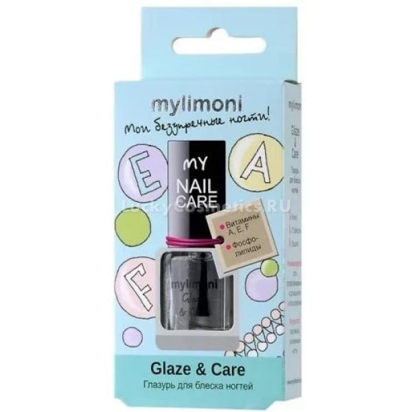 MyLimoni Glaze  CareТоп-покрытие из линии MyLimoni обладает множеством уникальных полезных свойств. Оно не только придаст ногтям стойкий глянцевый и зеркальный блеск, но и надолго защитит их поверхность от всевозможных воздействий, царапин и стирания.<br>Глазурь Glaze &amp; Care способна мгновенно сделать цвет лака более насыщенным и сочным, защитит маникюр от всевозможных повреждений, трещин, выцветания под воздействием солнца. Она способствует более быстрому высыханию всего покрытия ногтя, укрепляя его и не давая расслаиваться. Покрытие получается влажным и объемным, к тому же невероятно стойким и защищенным от пожелтения и сколов.Объём: 6 мл.Способ применения:Наносить покрытие быстрыми движениями одним слоем после нанесения лака для защиты покрытия и придания блеска. Для придания сияния естественному маникюру, наносить на чистые сухие ногти в несколько слоев.<br>