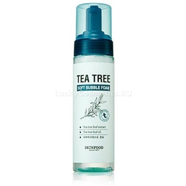 Skinfood Tree Soft Bubble Foam TeaУспокоить раздраженную и воспаленную кожу лица в конце дня поможет специальная пенка Tree Soft Bubble Foam Tea с зеленым чаем. Продукт создан корейскими дерматологами и косметологами компании Skinfood.<br>Средство превосходно очищает кожу от ежедневно скапливающейся пыли и загрязнений, легко удаляет макияж любой сложности и насыщает клетки полезными микроэлементами. Кожа в результате выглядит здоровой и сияющей. Продукт учитывает особенности чувствительной кожи и идеально подходит для ежедневного ухода. Активные компоненты средства глубоко очищают поры и создают на поверхности кожи тонкую защитную пленку, предотвращающую образование свободных радикалов. Не вызывает стянутости и сухости кожи. Улучшает обмен веществ и подготавливает кожу к нанесению последующих ухаживающих средств, способствуя их лучшему всасыванию.<br>Настой зеленого чая богат природными антиоксидантами, способствует омоложению и укреплению тонкой и нежной кожи лица. Устраняет воспаления и снимает отечность тканей.Объём: 150 мл.Способ применения:Вспеньте продукт с небольшим количеством воды и нанесите на мокрую кожу мягко массируя. Смойте пенку водой.<br>