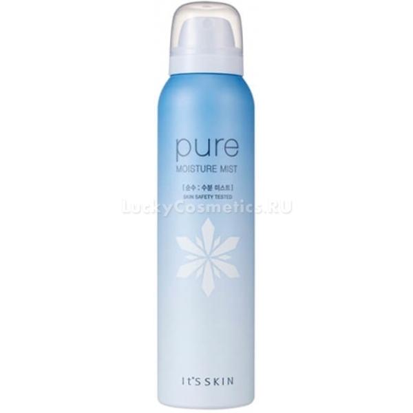 Its Skin Pure Moisture MistИнтенсивно увлажняющий спрей Pure Moisture Mist незаменимый помощник, поскольку помогает заботиться о здоровье и красоте вашей кожи. Средство с мельчайшими аэрозольными частичками окутывает кожу, словно легкое облако и наполняет клетки ценной влагой. Активные питательные компоненты средства помогают бороться с признаками уставшей и тонкой кожи. Интенсивно увлажняют, снимают дискомфорт и раздражение. Легкая текстура не нарушает макияж, не оседает на одежде и легко впитывается. Продукт возвращает коже жизненную энергию, обеспечивая ей гладкость и матовость.<br>Талая вода прекрасно устраняет сухость, шелушения и отечность тканей. Борется с обвисанием и дряблостью кожи, осветляет темные круги в области глаз.<br>Экстракт лимона деликатно отбеливает пигментацию, следы постакне и устраняет локальные высыпания. Борется с черными точками и сужает расширенные поры. Дарит коже матовость и гладкость.<br>Яблочная вода насыщает клетки железом, ферментами и калием. В результате кожа становится бархатистой и сияющей.Объём: 120 мл.Способ применения:Распылите средство на кожу с расстояния 15 – 20 см. Использовать по мере необходимости увлажнения кожи.<br>
