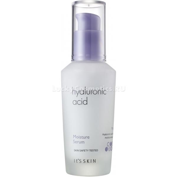 Its Skin Hyaluronic Acid Moisture SerumИнновационная сыворотка Hyaluronic Acid Moisture Serum предназначена для ухода за уставшей, увядающей и тусклой кожей. Средство от Its Skin не только увлажняет, но и предотвращает преждевременное старение клеток, обвисание и дряблость кожи. Натуральные растительные компоненты помогут насытить клетки ценными витаминами и микроэлементами. Клинически доказано, при регулярном использовании средства кожа становится светлее, эластичнее и сильнее.<br>Гиалуроновая кислота прекрасно увлажняет сухую кожу, отшелушивает и полирует, предотвращает появление морщин и высыпаний.<br>Экстракт грейпфрута повышает клеточный иммунитет, усиливает микроциркуляцию крови и защитные функции кожи. Кроме того, благодаря витамину С, кожа деликатно осветляется и выравнивается.<br>Гибискус в составе сыворотки оказывает антибактериальное, смягчающее и очищающее действие. Сужает расширенные поры и устраняет локальные высыпания.<br>Экстракт голубики укрепляет стенки сосудов, снимает отечность тканей, устраняет темные круги в области глаз и заполняет морщинки, выравнивая кожу.Объём: 40 мл.Способ применения:На предварительно очищенную кожу нанесите средство и похлопывающими движениями распределите по коже. Для достижения более эффективного действия кожу рекомендуется обрабатывать тонером.<br>