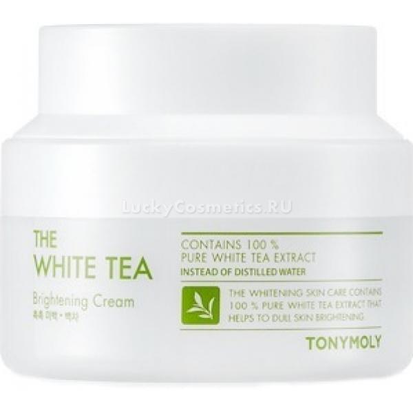 Tony Moly The White Tea Brightening CreamТусклая, уставшая и рыхлая кожа доставляет массу неудобств и делает более закомплексованными. Больше не нужно наносить массу декоративных маскирующих средств, достаточно воспользоваться новинкой от Tony Moly - The White Tea Brightening Cream. легкая текстура крема моментально насыщает клетки влагой, усиливает микроциркуляцию крови и восстанавливает природную красоту и сияние кожного покрова. Средство не маскирует несовершенства, а эффективно борется с причиной их возникновения. проникая вглубь клеток, активные частицы средства стимулируют выработку коллагена, укрепляют тонкие стенки сосудов и дарят коже насыщенный здоровый цвет.<br><br>Экстракт белого чая деликатно успокаивает, снимает раздражение и покраснение кожи. Слегка охлаждает и отбеливает тон кожного покрова. Эффективно борется с сухостью и шелушением, поддерживает оптимальный уровень гидро &amp;ndash; липидного баланса клеток, предотвращает обезвоживание кожного покрова.<br><br>Ниацинамид обладает ранозаживляющими, регенерирующими и антибактериальными свойствами. Заполняет и разглаживает морщинки, устраняет темные круги в области глаз и дарит коже роскошное сияние.<br><br>&amp;nbsp;<br><br>Объём: 60 мл.<br><br>&amp;nbsp;<br><br>Способ применения:<br><br>Нанесите необходимое количество средства в завершающем этапе ухода за кожей.<br>