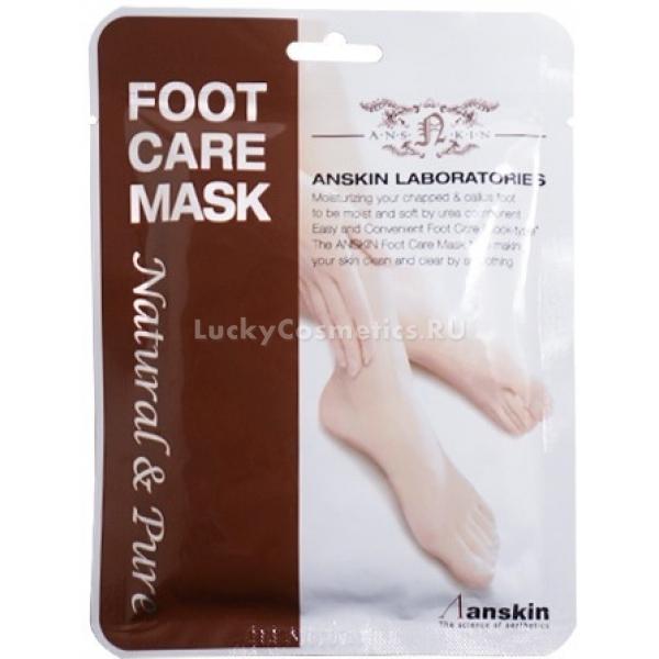 Anskin Natural Pure Foot Care MaskАзиатские носочки-маска для ножек Natural Pure Foot Care Mask помогут вам избавиться от натоптышей и мозолей, смягчить и увлажнить кожу ступней и облегчить процедуру педикюра. Специальный состав пилинг-ухода размягчает ороговевший слой эпидермиса, увлажняет сухие и шелушащиеся участки. Гиалуроновая кислота обеспечивает активное увлажнение, а экстракты целебных растений и масла снабжают новые клетки питанием.<br><br>&amp;nbsp;<br><br>Объём: 2*40 мл<br><br>&amp;nbsp;<br><br>Способ применения:<br><br>Надеть носочки на вымытые сухие ступни сразу же после извлечения из упаковки и просидеть в них час. По истечении времени снять носочки, позволить эссенции до конца впитаться в кожу ступней<br>