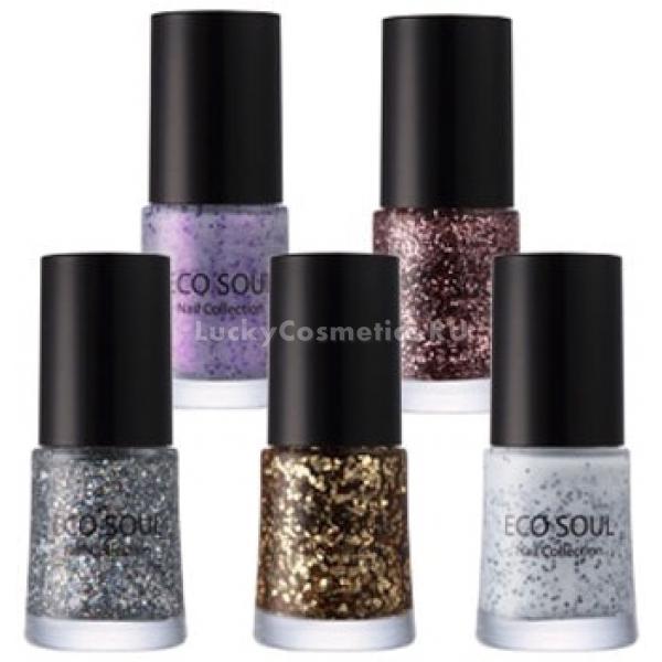 Купить The Saem Eco Soul Nail Collection Glitter