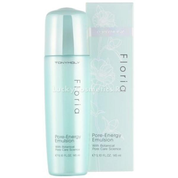 Tony Moly Floria Pore Energy EmulsionЭто очень эффективный продукт, направленный на устранение проблем кожи, которая имеет расширенные поры. Бренд Tony Moly позиционирует данную эмульсию, как средство, которое подойдет комбинированной, чувствительной, жирной и, даже, увядающей кожи.<br><br>Продукт в первую очередь борется с нефункционирующими клетками кожи, которые блокируют путь влаге и питательным элементам. Еще одна проблема, которая легко решается с помощью товара &amp;ndash; это кожное сало, которое закупоривает поры. Эмульсия от расширенных пор для лица Tony Moly Floria Pore Energy Emulsion отлично наполняет клетки кожи влагой, тонизирует поры, оздоравливает.<br><br>В составе средства: цветы кактуса, мимозы, персика, а также чая мате. Все эти компоненты являются антиоксидантами от самой природы, они направлены на восстановление, питание витаминами различных групп, а также на устранение дефектов кожи. Кроме того благодаря эмульсии происходит отшелушивание, которое способствует перерождению клеток кожи и детоксикация.<br><br>&amp;nbsp;<br><br>Объём: 145 мл<br><br>&amp;nbsp;<br><br>Способ применения:<br><br>Для применения эмульсии сначала необходимо воспользоваться тонером, который очистит кожу. Затем необходимо нанести по всем участкам лица пару капель эмульсии, проконтролировать, чтобы средство впиталось глубоко в кожные покровы.<br>