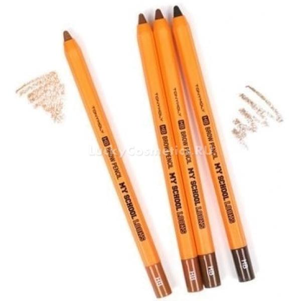 Tony Moly My School Looks HB Brow PencilВсего один штрих способен полностью изменить внешность и преобразить ее настолько, что необходимость в других декоративных средствах почти отпадает. Нет ничего невозможного с карандашом для бровей от корейского бренда Tony Moly.<br><br>Грифель карандаша обладает плотной структурой, однако скользит по коже мягко, не повреждая ее. Ложится он равномерно, не оставляя комочков. Для вас не составит труда провести четкие аккуратные линии и создать эффект натуральных волосков. Карандаш дарит бровям насыщенный цвет, который не размазывается и не течет в течение всего дня. Он удобен в использовании, отлично растушевывается и подходит для любого типа кожи.<br><br>Карандаш азиатского производителя придаст образу естественный шикарный вид, дает естественный и мягкий результат. Вы всегда сможете изящно подчеркнуть или выгодно поменять форму бровей, поставив важный акцент в безупречном макияже.<br><br>&amp;nbsp;<br><br>Объём: 1 гр<br><br>&amp;nbsp;<br><br>Способ применения:<br><br>Придайте бровям нужную форму, прорисовывая аккуратные штрихи по направлению роста бровей.<br>