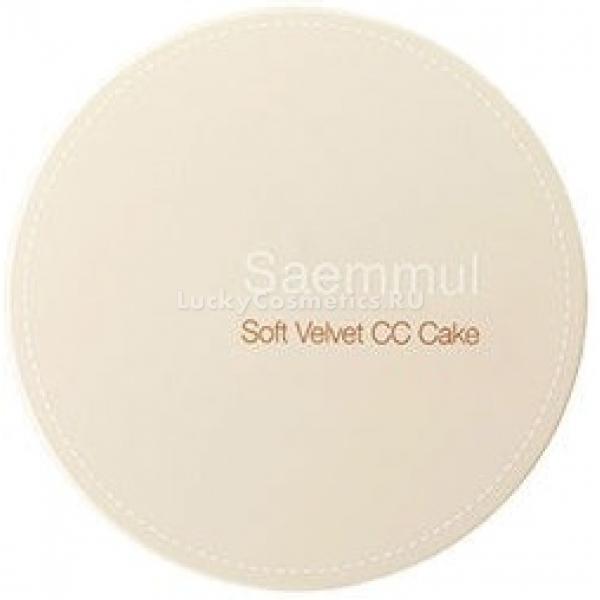 Бархатная CC-пудра для лица The Seam Saemmul Soft Velvet CC Cake SPF 50+ PA+++