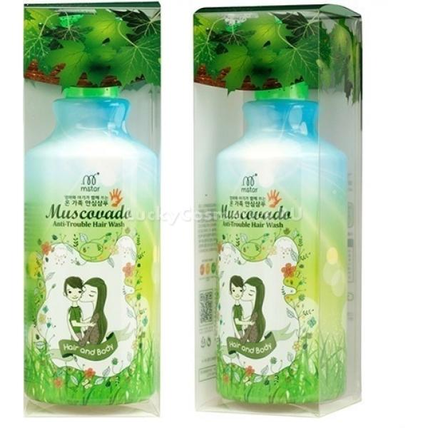 Органический шампунь 2 в 1 Muscovado Anti Trouble Hair Wash