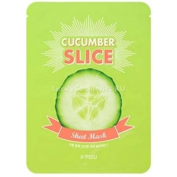 Купить APieu Cucumber Slice Sheet Mask, A'Pieu