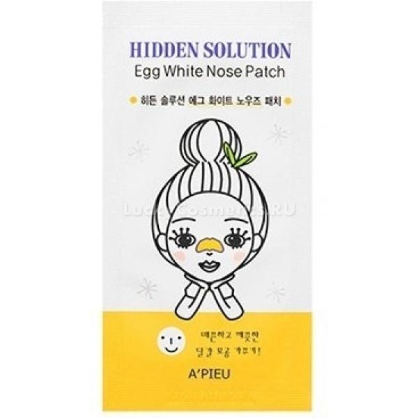 APieu Hidden Solution Egg White Nose PatchЧистый от черных точек, высыпаний и сального блеска нос ? мечта девушек с жирным, комбинированным и проблемным типом кожи. Осуществить ее помогут патчи Egg White Nose от APieu с вытяжкой яичного белка. Они подсушивают воспаления, убивают вредные бактерии, заживляют незначительные повреждения, вытягивают из пор густой продукт деятельности сальных желез, матируют и осветляют кожу.<br>Действие яичного белка на кожу:<br>антибактериальное;<br>разглаживающее;<br>очищающее;<br>тонизирующее;<br>отбеливающее;<br>противовоспалительное;<br>матирующее.<br>Таким потрясающим эффектом яичный белок обязан набору витаминов, минералов и ценных аминокислот в своем составе. Но чтобы в полной мере раскрыть эти свойства, необходимо регулярное использование патчей около трех раз в неделю.Объём: 1 упСпособ применения:На очищенную и увлажненную поверхность носа расположить патч. После того, как он полностью подсохнет, снять. Протереть кожу ватной палочкой или косметической салфеткой.<br>