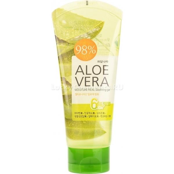 Welcos Aloe Vera Moisture Real Soothing GelГель с экстрактом алое вера заслуживает особого внимания ценителей &amp;laquo;работающей&amp;raquo; корейской косметики. Этот универсальный продукт станет вашим маст-хэвом. Гель Welcos, по заявлению производителя, можно использовать следующим образом:<br><br><br>для ухода за лицом и телом;<br>для ухода за волосами;<br>в качестве средства после эпиляции или бритья;<br>для заживления укусов насекомых;<br>для защиты от УФ-излучения.<br><br><br>Средство с легкостью заменит целый арсенал ухаживающих косметических продуктов. Особенно подкупает его натуральный состав. Гель Aloe Vera Real Gel на 98% состоит из сока алое вера. Однородная прозрачная текстура легко наносится на кожу. Средство &amp;laquo;реагирует&amp;raquo; сразу же, расслабляя и освежая кожу.<br><br>После солнечных ванн гель успокоит раздраженную кожу, ускорит ее восстановление и снимет покраснения. Также он супер-эффективен для ежедневного ухода. Кожа нормального типа в результате использования геля получит питание. Сухая кожа обретет увлажнение. Проблемный тип кожи оздоровится и избавится от чрезмерного жирного блеска.<br><br>&amp;nbsp;<br><br>Объём: 150 мл<br><br>&amp;nbsp;<br><br>Способ применения:<br><br>Нанести средство на кожу в зависимости от выбранного метода использования.<br>