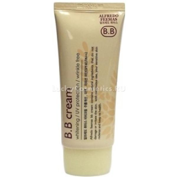 BB    Lunaris Alfredo Feemas BB cream SPFPAИдеально ровный тон и без эффекта &amp;laquo;маски&amp;raquo; возможно создать при помощи всего одного средства от Lunaris. Продукт быстро подстраивается под естественный тон кожи и дарит ей невероятную гладкость с эффектом матовости.<br><br>Высокий фактор защиты SPF40+/PA+++ позволяет использовать крем на открытом солнце. При этом кожа будет надежно защищена, а макияж останется безупречным. Благодаря стойким пигментам продукт легко скрывает мелкие недостатки, покраснения и неровности кожного покрова. Кроме того уникальная технология продукта не засоряет поры и оставляет кожу матовой в течение всего дня. Натуральный состав средства не вызывает раздражения и деликатно смягчает сухие участки кожи. Легкая текстура не засоряет поры и легко удаляется с поверхности кожи. Натуральный состав средства подарит чувство свежести и легкости. Крем не ощущается на коже и не скатывается при соприкосновении с водой. Заполняя мелкие морщинки, делает их невидимыми и подобно консиллеру осветляет темные круги вокруг глаз.<br><br>&amp;nbsp;<br><br>Объём: 50 мл.<br><br>&amp;nbsp;<br><br>Способ применения:<br><br>Нанесите средство на завершающем этапе макияжа и тщательно растушуйте при помощи кисти или спонжа.<br>