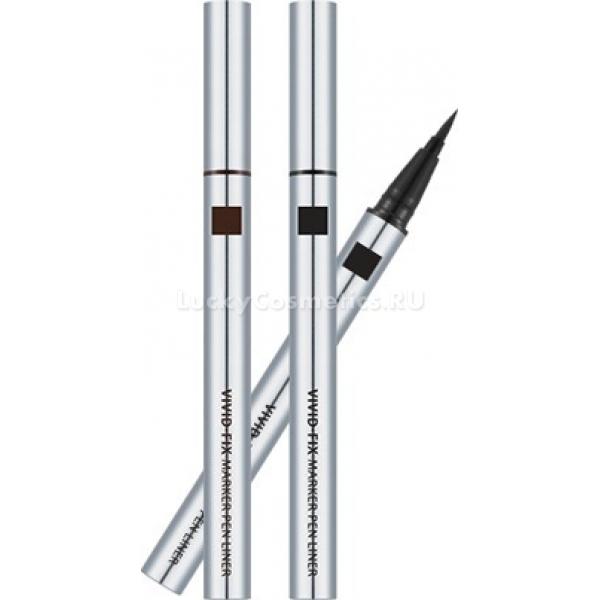 Missha Vivid Fix Brush Pen LinerДля многих из нас, особенно новичков в макияже, рисовать стрелки на веках – настоящее испытание на прочность (нервов) и твёрдость (руки). А так хочется изящно подчеркнуть линию век или, наоборот, изменить форму глаз широкими фантазийными стрелками!<br>Кажется, теперь у нас появился супергерой – подводка Vivid Fix Brush Pen Liner от корейской марки Missha. Лайнер удобно держать в руке. Благодаря тонкой гибкой кисточке стрелку можно нарисовать быстро и аккуратно, что особенно важно по утрам. После нанесения краска с гелевой текстурой застывает в течение нескольких секунд – в это время можно успеть поправить дрогнувшую линию ватной палочкой. После высыхания стрелка не размазывается в течение всего дня, а стойкие пигменты цвета сохраняют свою яркость.<br>Средство представлено в двух классических оттенках – насыщенном чёрном и глубоком коричневом.<br>Подводка Vivid Fix неводостойкая, поэтому её можно быстро смыть обычной или мицеллярной водой.Объём: 6 гр.Способ применения:Перед применением несколько раз встряхните лайнер. Нарисуйте стрелки на веках и плотно закройте колпачок, чтобы подводка не засохла.<br>