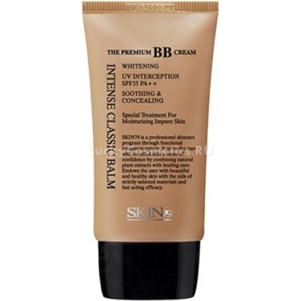 Skin Intense Classic Balm SPF PAРегенерирующий ББ крем идеально подходит для проблемной кожи всех типов, склонной к воспалениям и акне. Средство, имеющее светло-бежевый универсальный тон, подстраивается к естественному цвету лица и маскирует веснушки, пигментацию, сыпи и покраснения. Также оно способно спрятать темные области под глазами и неровности кожи.<br><br>Использование регенерирующего ББ крема помогает не только скрыть недостатки, но и оздоровить кожу. Успокаивающее действие обеспечивают:<br><br>хаттюния сердцелистная,<br><br>альпийские травы, собираемые в Швейцарии,<br><br>арбутин.<br><br>Последнее вещество предотвращает также возникновение пигментных пятен, взаимодействуя с меланином.<br><br>Комплекс, состоящий из гиалуроновой кислоты и экстрактов лаванды и зеленого чая, заботится об увлажнении кожи и поддержании ее упругости. А средний уровень защиты от ультрафиолета (SPF 35) избавляет ее от вредного влияния лучей, являющихся источником стресса и вызывающих фотостарение.<br><br>&amp;nbsp;<br><br>Объём: 40 мл<br><br>&amp;nbsp;<br><br>Способ применения:<br><br>Нужное количество ББ крема нанести на кожу лица, предварительно увлажненную базовым уходом, и слегка втереть подушечками пальцев, равномерно распределяя. При использовании в качестве консилера средство следует накладывать лишь на проблемные зоны, тщательно растушевывая границы.<br>