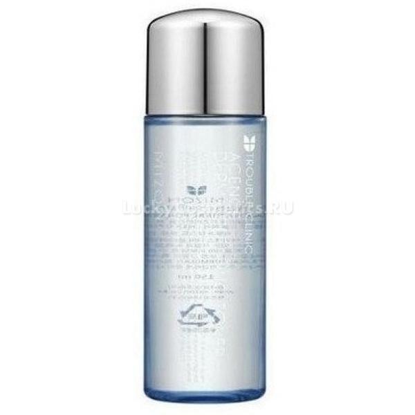 Mizon Acence Derma Clearing Toner  mlТонер против воспалений специализированной серии Acence от Mizon для проблемной кожи поможет успокоить ее после умывания, нейтрализовать воздействие на клетки солей хлора и кальция, содержащихся в водопроводной воде, а также подготовить ее к дальнейшим уходовым процедурам.<br><br>Эффект от применения&amp;nbsp;Derma Cleaner Toner &amp;ndash; восстановление гидробаланса кожи, смягчение стенок ее клеток, благодаря чему активные компоненты миста и других косметических средств проникают быстрее и воздействуют лучше.<br><br>Среди активных компонентов &amp;ndash; комплекс эксфолиирующих кислот (салициловая и гликолевая), которые облегчают процессы обновления кожи, стимулируя синтез новых клеток.<br><br>Растительные экстракты &amp;ndash; шизандра, плющ, лимон и сосна &amp;ndash; тонизируют кожу, питают, укрепляют местный иммунитет. Шизандра восстанавливает энергетику клеток, стимулирует тканевый обмен. Плющ успокаивает все покраснения и сглаживает неровности тона кожи. Лимон отбеливает кожу и оказывает антиоксидантное действие, а сосна &amp;ndash; мощный антисептик, препятствующий развитию микроорганизмов на поверхности кожи.<br><br>&amp;nbsp;<br><br>Объём: 150 мл<br><br>&amp;nbsp;<br><br>Способ применения:<br><br>Сразу же после умывания, пока кожа остается влажной, нанесите тонер ватными тампонами, равномерно распределив его жидкую текстуру по лицу. После этого наносите увлажняющий крем, гель или питательную маску &amp;ndash; на очищенную и подготовленную кожу эти средства окажут максимально эффективное воздействие.<br>