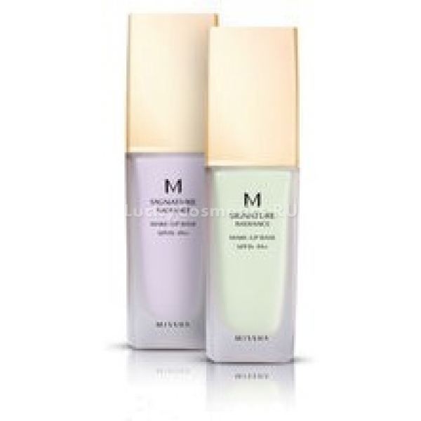 Missha M Radiance Makeup Base SPFPAСоздать идеальный макияж поможет простой в применении и эффективный праймер Missha Radiance Makeup Base. Средство уникально  тем, что не только маскирует все несовершенства кожи, но и оберегает ее от вредного УФ-излучения, что позволяет избежать нежелательной пигментации. Коллагеново-минеральный коктейль, входящий в состав основы под макияж делает кожу здоровой, подтянутой и наполняет ее жизнью. Мощный тонизирующий эффект на кожу дает экстракт миндаля, обладающий омолаживающими свойствами. Особая мерцающая текстура визуально основы под макияж выравнивает поверхность кожи, скрывая расширенные поры, прыщики и прочие неровности. Поглощая избыток кожных выделений, праймер не позволяет макияжу размазаться и потечь даже в жару.  Средство представлено в двух оттенках: мятный и лавандовый.Объём: 35млСпособ применения:Для применения базовой основы достаточно небольшое ее количество нанести на спондж и распределить его по лицу плавными движениями, уделив особое внимание коже вокруг глаз.  Средство впитывается мгновенно и декоративную косметику можно наносить сразу же.<br>