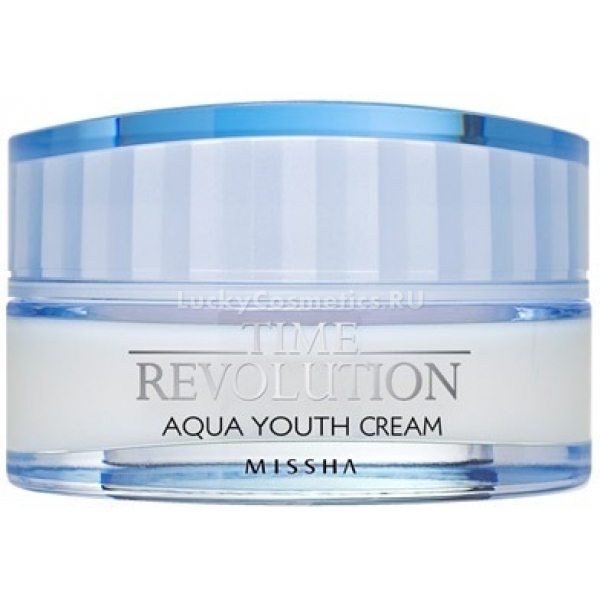 Missha Time Revolution Aqua Youth CreamЭтот крем для лица &amp;ndash; прекрасный универсальный продукт по уходу за каждым типом кожи. Увлажнение &amp;ndash; неотъемлемый элемент ухода за лицом как в летний зной, так и в зимние морозы, недостаток которого отрицательно влияет на состояние кожи &amp;ndash; ее тон становится бледным и тусклым, образуются шелушения. Бренд Missha разработал крем для лица, оказывающий глубокое увлажняющее действие Time Revolution Aqua Youth Cream. Его высокая эффективность обеспечивается включением в состав гиалуроновой кислоты и экстракта лотоса &amp;ndash; компонентов известных своим прекрасным увлажняющим и антивозрастным действием. В продукте также содержится DN-AidTM &amp;ndash; уникальный комплекс, в основе которого вытяжка кассии, обеспечивающая его эффективное действие в борьбе с ключевыми признаками увядания кожи. В результате регулярного использования каждая клеточка эпидермиса напитывается необходимой влагой, повышаются защитные функции кожи, она приобретает здоровый оттенок и сияющий и ухоженный вид. Подарите своей коже необходимое увлажнение, побаловав ее прекрасным увлажняющим уходом от Missha!<br><br>&amp;nbsp;<br><br>Объём: 50 мл<br><br>&amp;nbsp;<br><br>Способ применения:<br><br>Продукт следует наносить на лицо в небольшом количестве после умывания кожи легкими движениями пальчиков в любое время суток.<br>