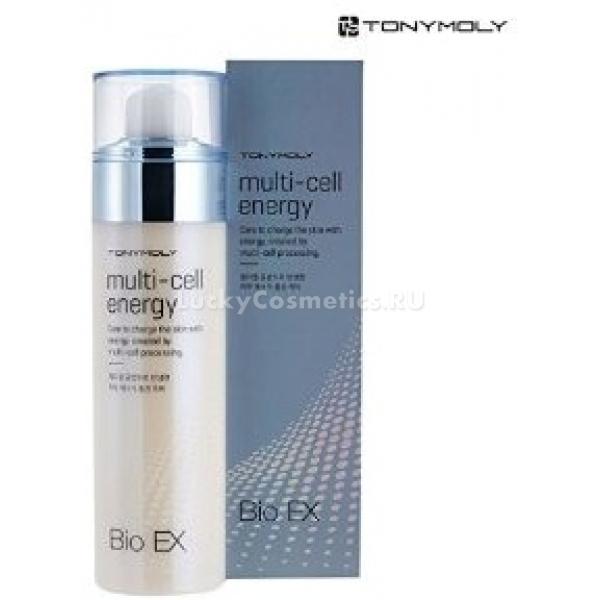 Многофункциональная осветляющая эссенция Tony Moly Bio EX Multi-Cell EnergyЭта эссенция станет незаменимым средством для обладательниц увядающей кожи, склонной к пигментации. Многофункциональность продукта заключается в том, что его уникальная текстура является прекрасной заменой таким ухаживающим продуктам, как тонер и лосьон. Запатентованный состав средства обеспечивает комплексное оздоравливающее действие на увядающую кожу. Эссенция обладает прекрасными осветляющими, смягчающими, увлажняющими и регенерирующими свойствами. Продукт, нанесенный на кожу, самостоятельно выявляет участки, пораженные пигментацией, и оказывает пролонгированный осветляющий эффект, при этом восстанавливая весь ее рельеф и насыщая полезными элементами. Эссенция содержит в своем составе вытяжку риса. Этот компонент известен своим мощным омолаживающим действием. Он обеспечивает избавление кожи от сухости, дряблости, морщинок, придает ей тонус и упругость. Регулярное применение средства Bio EX Multi-Cell Energy бренда Tony Moly позволит вернуть жизненную силу даже самой уставшей увядающей коже.<br><br>&amp;nbsp;<br><br>Объём: 120 мл<br><br>&amp;nbsp;<br><br>Способ применения:<br><br>Средство следует наносить на чистую кожу лица в малом количестве при помощи ватного диска после вечернего и утреннего умывания.<br>