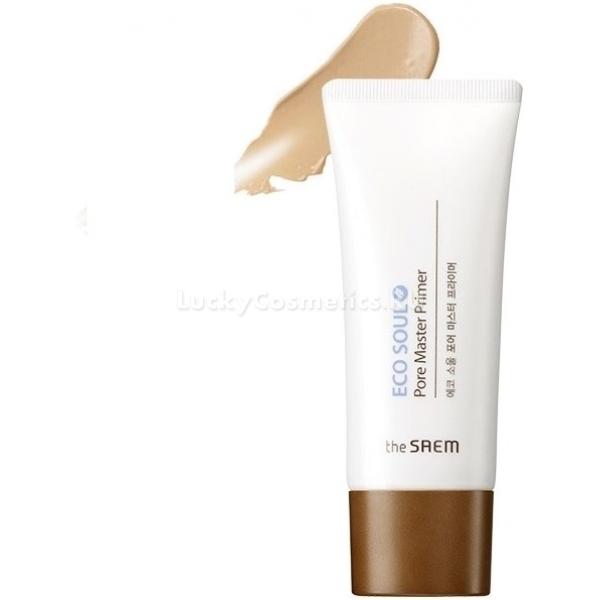 The Saem Eco Soul Pore Master PrimerНезаменимое для безупречного макияжа средство предлагает косметический бренд The Saem. Продукт призван выровнять текстуру кожи, скрыть такие несовершенства, как покраснения, рубцы, воспаления. Особенно хорошо средство справляется с расширенными порами. Оно способствует их моментальному сужению, подавляет выработку кожного сала, надолго матирует кожу.<br><br>Праймер в своем составе содержит успокаивающие и противовоспалительные экстракты зеленого чая, мелисы, липы, полыни, грейпфрута, арники, апельсина. Эти компоненты оздоравливают кожу, стимулируют выработку коллагена, защищают от агрессивного действия свободных радикалов. Масло виноградных косточек, обладающее целым спектром полезных свойст, замедляет процессы старения, способствует заживлению небольших ранок, устраняет мелкие морщинки.<br><br>Праймер позволяет выровнять микрорельеф кожи, но не забивает поры. Также он защищает от пигментации, которая может появиться в результате воздействия на дерму солнечных лучей. Тональные средства, благодаря праймеру, ложатся идеально ровно, тени и румяна &amp;ndash; радуют насыщенными оттенками и стойкостью.<br><br>&amp;nbsp;<br><br>Объём: 30 мл<br><br>&amp;nbsp;<br><br>Способ применения:<br><br>Выдавите небольшое количество продукта на ладонь. Нагревшийся праймер с помощью влажного спонжика нанесите на лицо. Хорошо растушуйте втирающими и вбивающими движениями, особое внимание уделяя Т-зоне. Дайте средству впитаться.<br>
