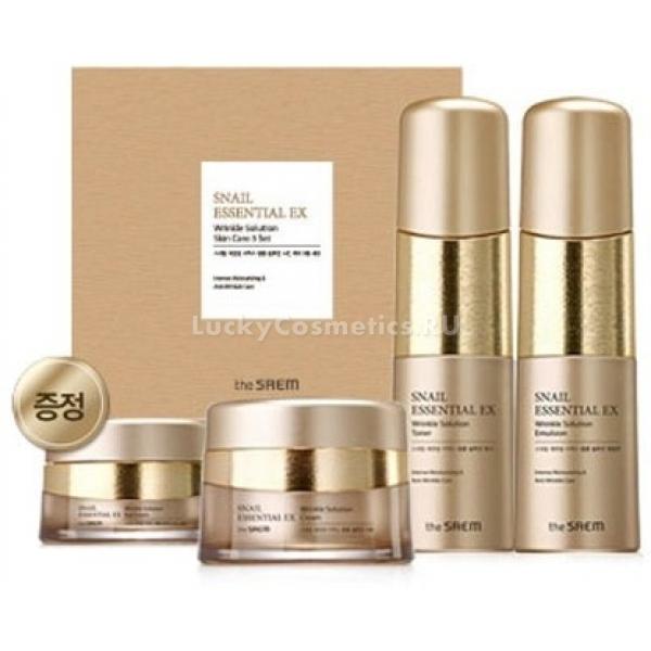 The Saem Snail Essential EX Wrinkle Solution Skin Care Set -  В подарок