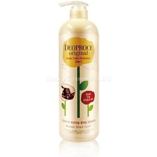 Шампунь 2 в 1 с черным чесноком Deoproce Original Care Shampoo 2 In 1 Black Garlic