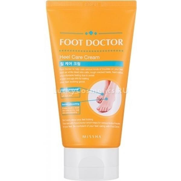 Missha Foot Doctor Heel Care CreamСухость пяточек, огрубение кожи и микротрещины являются крайне неприятным явлением. Это не только некрасиво и болезненно, но и опасно, ведь в трещинки легко могут попасть бактерии, вызвав воспаление. Такие проблемы с ногами поможет предотвратить&amp;nbsp;крем для ног Foot Doctor Cream, обладающий восстанавливающими, увлажняющими и бактерицидными свойствами. Крем Heel Care с нежной обволакивающей текстурой легко наносится и отлично впитывается. Создавая защитную пленку, он не вызывает неприятных ощущений липкости или скольжения, что является безусловным плюсом. Средство способно проникнуть под защитный слой кожи и заполнить трещинки, способствуя их скорейшему заживлению. Салициловая кислота, присутствующая в составе, надолго дарит чувство свежести и легкости, а также оказывает отличный антибактериальный эффект. Масла абрикоса и ши, известные своими увлажняющими свойствами, замечательно питают и разглаживают кожу. При регулярном использовании, ваши пяточки будут нежными, без намека на сухость и шелушение. С кремом для ног от Missha можно смело носить открытую обувь, любимые туфельки и босоножки, когда лето вступит&amp;nbsp;в законные права!<br><br>&amp;nbsp;<br><br>Объём: 120 мл.<br><br>&amp;nbsp;<br><br>Способ применения:<br><br>Наносить крем на чистую кожу легкими массирующими движениями. При использовании на ночь, рекомендуется нанести слой поплотнее и надеть специальные носочки, чтобы усилить процессы регенерации и увлажнения. Для поддержания эффекта достаточно использовать средство несколько раз в неделю.<br>