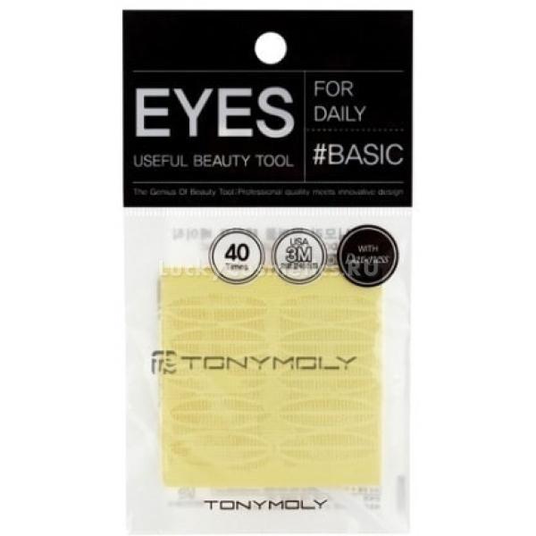 Tony Moly Eyelash Tape BasicВозможно ли изменить разрез глаз, скорректировать форму складки века и сделать взгляд более открытым без помощи пластического хирурга? Многие ответят отрицательно, даже не представляя, какой инновационный продукт существует на косметическом рынке. Исправить ассиметрию и избавиться от нависшего века возможно при помощи скотча Eyelash Basic, который абсолютно не опасен и прост в применении. Наклейки не раздражают нежную кожу и чувствительную слизистую глаз, так как сделаны из высококачественных гипоаллергенных материалов. Tape Basic абсолютно прозрачны и незаметны на коже, при желании можно сделать дополнительную маскировку тенями или корректором. Скотч для создания второго века надежно фиксирует кожу и держится в течение всего дня - с ним вы не будете переживать за безупречность макияжа и не попадете неловкую ситуациию. Снять наклейки не составит труда, ведь при контакте с водой липкий слой теряет свои свойства. Самоклеящиеся полоски от Tony Moly &amp;ndash; отличный вариант для девушек восточным разрезом глаз и тяжелыми веками, на которых практически не видно нанесенного макияжа из-за глубокого расположения складки. С таким аксессуаром можно подкорректировать внешность и поэкспериментировать, не ложась под нож хирурга!<br><br>&amp;nbsp;<br><br>Объём: 1 шт.<br><br>&amp;nbsp;<br><br>Способ применения:<br><br>Отделить скотч от основы, прижать его к коже века, специальной вилочкой формируя складку в новом месте. Не тереть глаза, чтобы не повредить липкий слой.<br>
